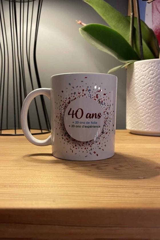 Mug • 40 ans • 2x20 ans