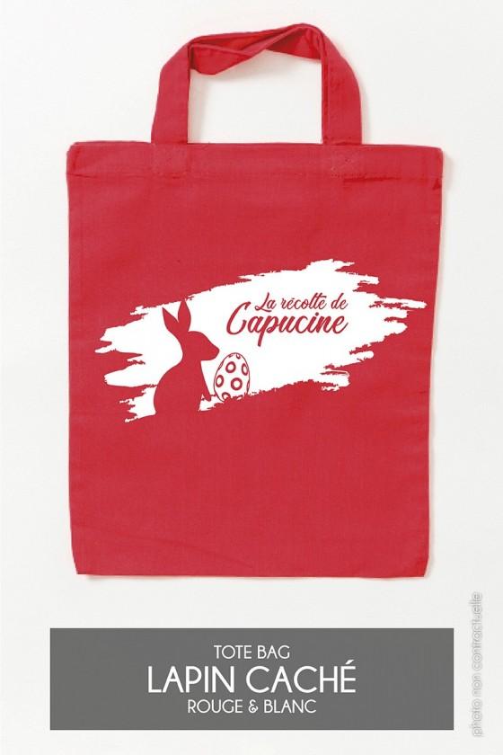 Mini Tote Bag • Lapin caché