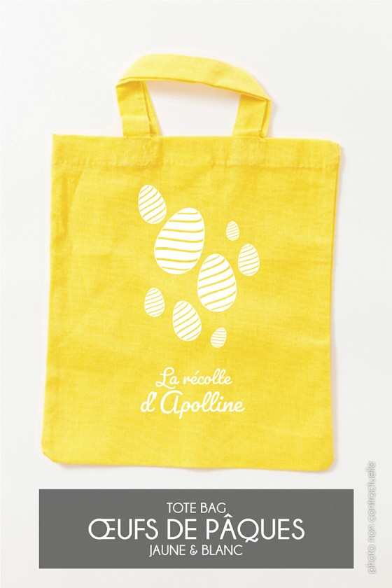 Mini Tote Bag • Œufs de Pâques